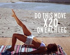 This will give you a super firm bum! (I already have that-yipee for me-but I still want to do this for my core, thighs, knees etc)