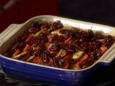 I've made these twice for the holidays and am so not making them again...LOL.  I manage to burn the pecans which are like 15 dollars/lb - Whiskey-Glazed Sweet Potatoes from FoodNetwork.com