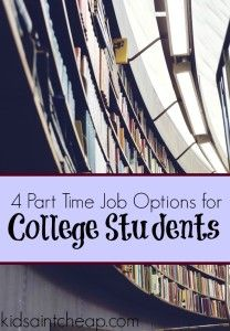 Having a job as a student is a great way to offset costs. Here are four part time job options for college students that won't interfere with your studies.