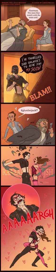 Oh my God, I just wheezed laughed so hard... what even! Reylo - 500 galaxies by LiberLibelula >> I swear I tried not to pin this but I couldn't stop myself