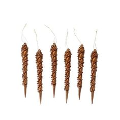 Copper Icicle Christmas Ornaments Set of 6 964873 *** You can get more details by clicking on the image.
