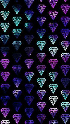 by Fondos Pink Diamond Wallpaper, Bling Wallpaper, More Wallpaper, Cute Wallpaper Backgrounds, Screen Wallpaper, Pattern Wallpaper, Cute Wallpapers, Confetti Wallpaper, Cute Galaxy Wallpaper