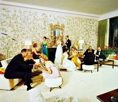 inner party at Alfred and Betsy Bloomingdale's home in Holmby Hills, photo by Nat Farbman, Sept. 1959