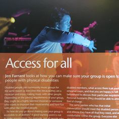 """I""""ve been published in #makingmusic member publication talking about making music accessible to everyone with physical disabilities. I love playing in my band it has made such a difference to my life.  Sharing information about living with a #disability and making things accessible to people with disabilities is a key part of my #work. My disability is invisible but it does impact my life considerably although for the most part you wouldn't notice it. So I am proud to have written this…"""