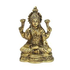 Shop Online Goddess MahaLakshmi Idol in Brass from Vedic Vaani. Online E-store for maa laxmi murti online in USA/UK/Europe. Buy mahalaxmi idol for diwali festival online. Saraswati Idol, Saraswati Statue, Durga, Goddess Lakshmi, Gods And Goddesses, Deities, Pagan, Mythology