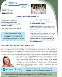 December 2015 Newsletter: Anatomy of the Aging Face