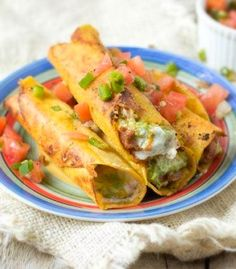 Deep Fried 7 Layer Dip Taquitos