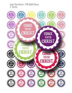 Come Unto Christ  Solid Colors  Young Womens by GreenJelloSalad, $3.00