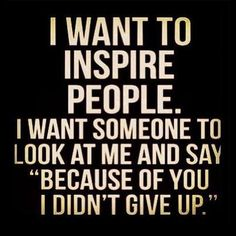"I want to inspire people. I want someone to look at me and say ""because of you, I didn't give up."" #calstrength #weightlifting #motivation"