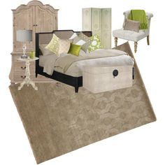 """""""Taupe and Green Bedroom"""" by coolcakecreations on Polyvore"""