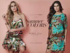 Verão pede muita cor! Vestidos leves e fresquinhos recebem a print tropical em diferentes versões. Qual é a sua favorita? #springsummermoikana17