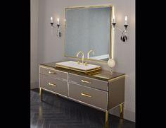 Milldue Hilton 16 Bronze Aligator Glass Luxury Italian Bathroom Vanities