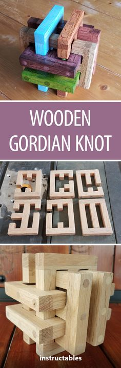 Wooden Gordian Knot #woodworking #puzzle #Instructables