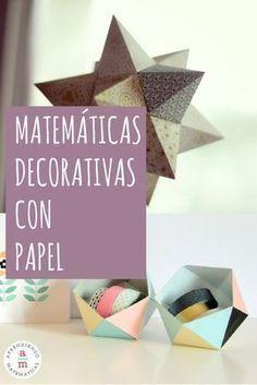 Ideas matemáticas decorativas con papel Origami And Math, Origami And Kirigami, Go Math, Math Art, Diy And Crafts, Paper Crafts, Art Mat, Math Projects, Math Games