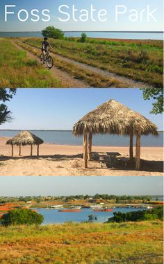 Foss State Park may be located in western Oklahoma, but its sandy beaches, palapas with picnic tables and plenty of trails for biking make it feel like an island paradise.