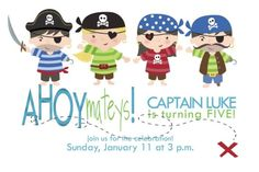 pirate party invitation by FinePrints on Etsy