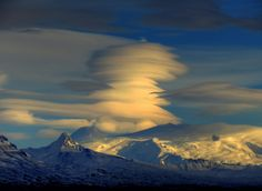 Clouds Over The Wrangells in Glennallen, Alaska. Photo by LDWinger. For more photos, visit wunderground.com