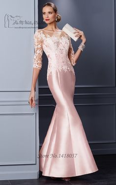 b9252dad76f20 Fashion Mother Of The Bride Dresses Long Mermaid Satin Lace Applique Cheap Plus  Size Groom Mother Dress Women Wedding Party Gown