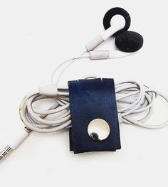 Leather Earbud Organizer