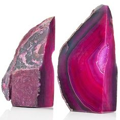 Richard Mishaan Set of 2 Agate Bookends - Pink at HSN.com.