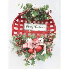 Valentine Baskets, Christmas Baskets, Christmas Signs, Christmas Wreaths, Merry Christmas, Patriotic Decorations, Christmas Decorations, Holiday Decor, Tobacco Basket Decor