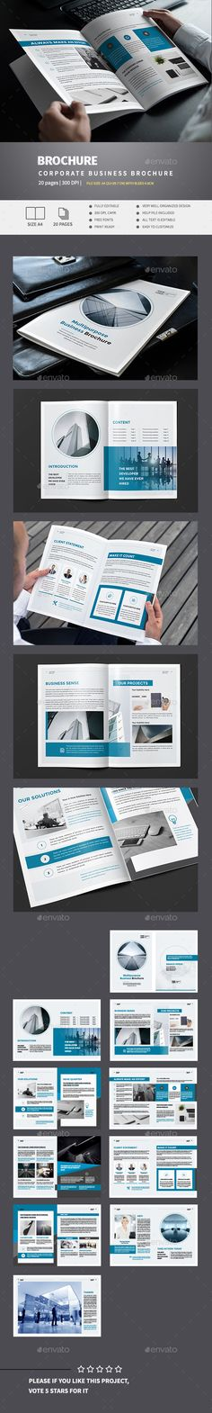 Blue Business Brochure Template
