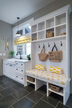Laundry & Mud Room ideas for your next home. Let's chat about your favorites at our next home design chat! Mudroom Laundry Room, Laundry Room Design, Laundry Area, Mudrooms With Laundry, Laundry Room With Sink, Laundry Sinks, Laundry Decor, Laundry Drying, Home Organization