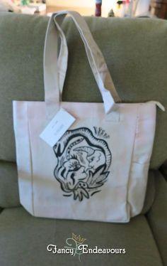 Kosta Boda Canvas Tote Bag Purse Adam, Eve, & Snake by Ulrica Hydman Vallien #KostaBoda