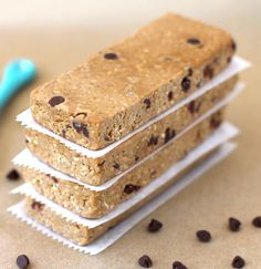 Healthy Chocolate Chip Cookie Dough DIY Protein Bars from the DIY Protein Bars Cookbook – Jessica Stier of Desserts with Benefits