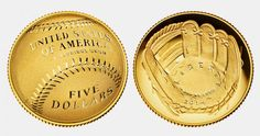 March 27, 2014 National Baseball Hall of Fame USA celebrates its 75th anniversary. It was on this occasion and will be released such unusual coins .  The obverse shows a baseball glove , and on the reverse - a baseball. Naturally , the front side was concave and reverse - convex . Denomination gold coins - $ 5 Silver - $ 1 and copper - 50 cents. Naturally, the purchase price will include a surcharge. + $ 35 gold coins , + $ 10 for silver and $ 5 + for each poludollarovoy coins .