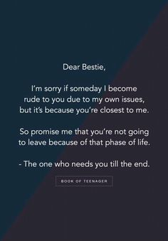 I have been through this phase where my closest friends left me because of me being angry. All the friends out there please never do this please this is the phase where your friend need you the most ~imperfection Besties Quotes, Best Friend Quotes, True Friendship Quotes, Emotional Friendship Quotes, Friend Birthday Quotes, Vanz, Memories Quotes, Teenager Quotes, Heartfelt Quotes