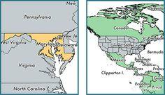 Maryland Map Elevation
