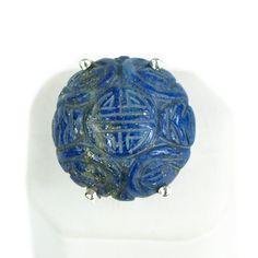 Anello con cabochon in Lapislazzuli ed Ag 925 £90