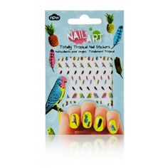 Nail Stickers - Totally Tropical Nail Manicure, Nails, Nail Art Stickers, Tropical, Kawaii, Beauty Products, Party, Nail Bar, Finger Nails