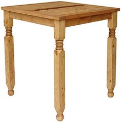 The small square Lyon bistro table is the perfect size for a small eat-in kitchen and can actually seat four people.  You will find many uses for this piece of southwestern furniture...use it in the corner of a bedroom or library as a desk, or use it next to your reclining chair.  The large Lyon bistro gives you more table space for dining or projects.