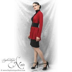 Still not cool enough for sweaters yet... :( But a good day to resurrect this old Red & Black Week outfit!  #corpgoth #red #black  http://sophistiquenoir.com/category/red-and-black-week
