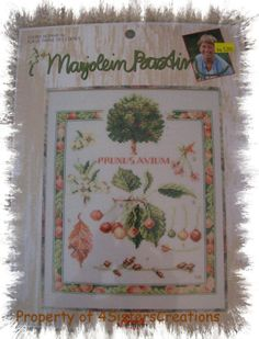 Cherry Botanical Counted Cross Stitch Kit by Lanarte Leisure Arts Marjolein Bastin