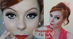 Tutorial de maquiagem Pin Up Vem conferir: http://www.blogflordemulher.com.br/2015/08/tutorial-de-maquiagem-pin-up-retro.html