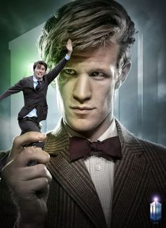 David Tennant in places he shouldn't be: this is the best one yet Matt Smith looks like he's contemplating eating him.