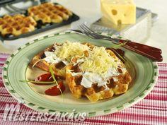 Sajtos gofri Waffles, Breakfast, Food, Morning Coffee, Essen, Waffle, Meals, Yemek, Eten