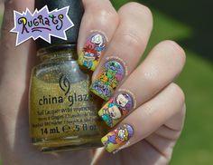 Rugrats nails. Nail art NOTD