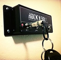 Guitar Amp Key Holder Guarantees Your Keys Have Taken Their Last Stage-Dive To Narnia -  #amp #decor #guitar #music