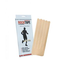 """RockTape Precut Edema Strips are 10"""" long by 4"""" wide and have a 2"""" base with 5 individual fingers. Each box contains 20 individual edema applications that can be worn for 5-7 days"""