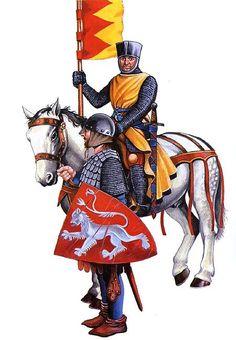 """• Simon de Montfort, c. 1265 • Man-at-arms, c. 1265"", Christopher Rothero"