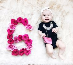 Rosie is already six months old and I. 6 Month Pictures, 6 Month Baby Picture Ideas, Baby Pictures, Half Birthday Baby, Birthday Photos, Girl Birthday, Six Month Baby, Newborn Photography, Photography Ideas