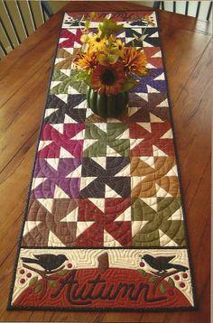 Patrón Quilt primitivo arte popular Otoño TABLE por PrimFolkArtShop, $7.95
