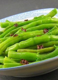 Green Beans with Balsamic-Shallot Butter