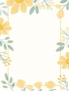 Fresh And Lovely Nature Wedding Border Yellow Flowers Small Floral