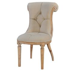 Julian Elbow Accent Chair in Beige Linen – Old Hollywood Glamour Chairs #hollywoodregency #glam #tufted #decor #diningchair #interiordesign #home #homefashion #forthehome VF Basic