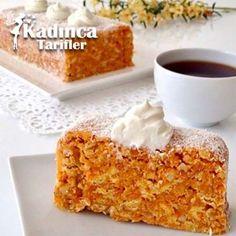 Havuçlu Mozaik Pasta Tarifi Turkish Recipes, Italian Recipes, Turkey Today, Turkish Sweets, Fish And Meat, Fresh Fruits And Vegetables, Amazing Cakes, Breakfast Recipes, Deserts